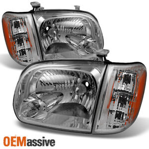 Fits 2005 06 Toyota Tundra Double Crew Cab Headlights With Corner Lights Pair