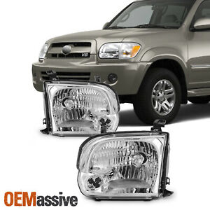 For 2005 2006 2007 Sequoia Tundra Headlights Lights Lamps Left Right 05 06 07