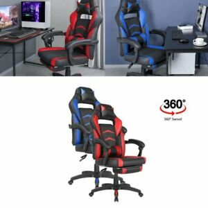 Office Chair Pc Computer Racing Gaming Chair Ergonomic Chair Red blue