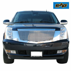 Eag Chrome Billet Grille W shell Fit 2007 2014 Cadillac Escalade