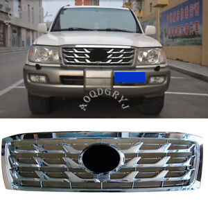 Abs Chrome Front Bumper Grille Conversion For Toyota Land Cruiser 100 2006 2007