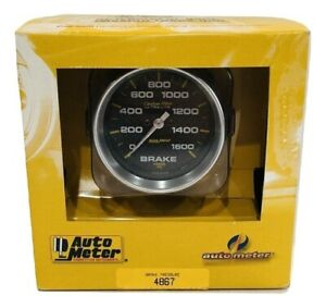 Auto Meter 2 5 8 Carbon Fiber Series Brake Pressure Gauge 0 1600 Psi