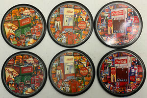 Vintage ~ Coca-Cola Coasters with Cork Backs Set of 6 Great Condition!