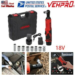 Cordless 3 8in Electric 18v Ratchet Wrench Power Tool Set W Battery Charger