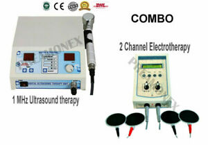New Combo 1mhz Ultrasound Therapy 2ch Electrotherapy Unit Dhl Express