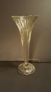 Antique Apothecary Store Display Shelf Support Heavy Glass Ribbed Pattern