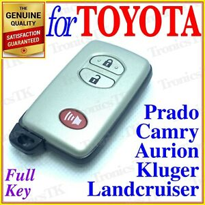 For Toyota Smart Key Landcruiser Prado Camry Kluger Aurion 3 Button