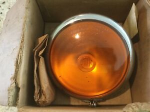 Vintage Bus truck Amber Light Griffin Lamp Co Rat Rod