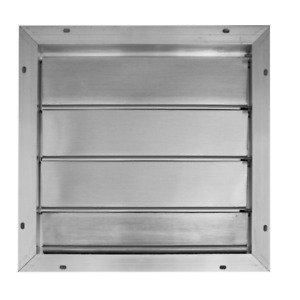 Broan Automatic Louvered Shutter Gable Mount Square Aluminum Air Vent Roof Attic