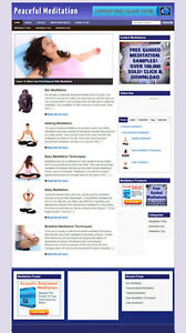 Meditation Blog And Affiliate Website With Banners And Store Plus Hosting