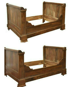 Antique Beds Alcove Day S A Pair 2 French Carved Walnut 1800 S Handsome