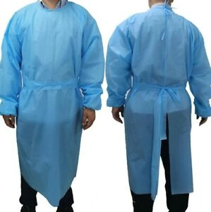Blue Disposable Medical Dental Isolation Gown Pp Non Woven Fabric Protective
