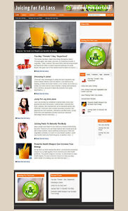 Juicing For Fat Loss Blog With Affiliate Website And New Domain Hosting