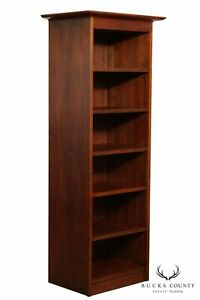 Stickley Custom Cherry Tall Open Bookcase