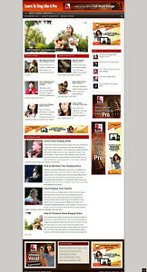 Learn To Sing Affiliate Website New Free Domain And Hosting