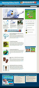 Kidney Health Advice Blog And Website With Affiliate Store Banners Domain