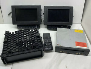 06 10 Mercedes X164 Gl450 Headrest Screen Monitor Display Receiver Remote Set B3