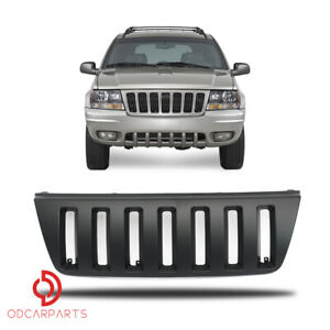 Fits Jeep Grand Cherokee 1999 2004 Front Upper Grille Abs Vertical Style Black