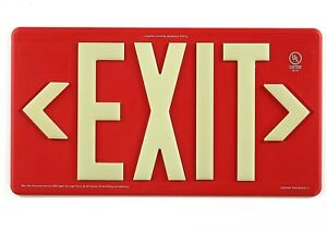 Jessup Glo Brite 7072 b Led Red Exit Sign Double Sided Indoor outdoor