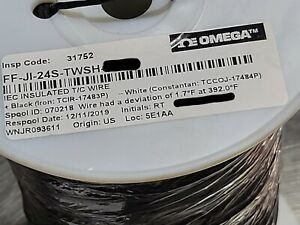 Omega Ff ji 24s twsh 24 1p Type J Iec Fep insulated Thermocouple Wire 200c 50ft