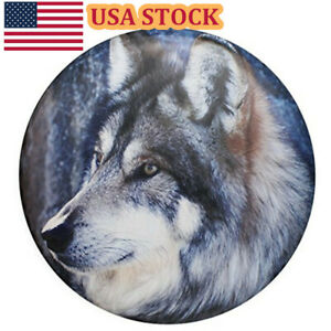 Spare Tire Cover 15 Waterproof Wolf Protector Pad For Jeep Wrangler Liberty