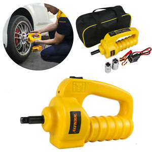 12v Automotive Electric Impact Wrench Corded 1 2 Drive 480nm Torque 2 Sockets