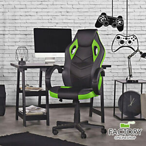 Office Gaming Chair High Back Ergonomic Computer Desk Chair Swivel Pu Leather