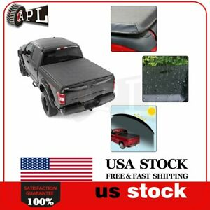 Short Tonneau Bed Cover Fits For 2014 2020 Toyota Tundra 5 5ft Soft Four fold