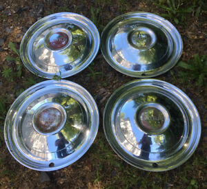 Vintage Original Set Of 4 1950 Chrysler Wheel Covers 15 Hubcaps