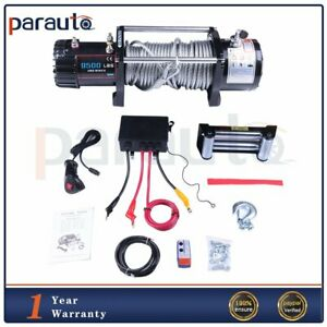 9500lb Electric Winch 80ft Steel Cable 4wd Offroad Recovery Car Pickup Truck 12v