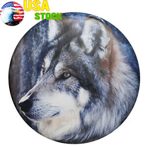 Spare Tire Cover 17 Waterproof Wolf Protector Pad For Jeep Wrangler Liberty