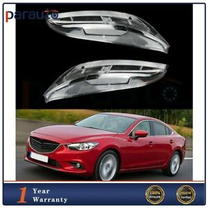 2x Headlight Lens Cover White Front Fit For 2003 04 05 06 07 2008 Mazda 6