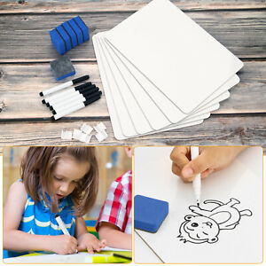 12 x9 Whiteboard Kit Dry Erase Double Sided Writing Board School Home Office