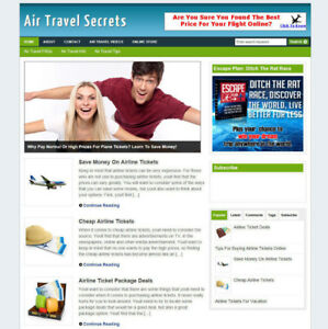 Air Travel Secrets Blog Website With Affiliate Store Free Domain And Hosting