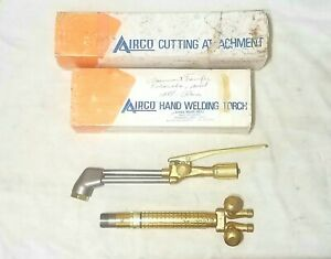New Airco Welding Cutting Torch Set 4875 Attachment 819 0800 Handle Concoa