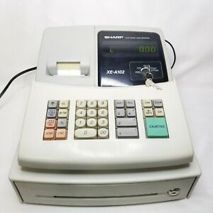 Sharp Xe a102 Electronic Cash Register With Key Great Condition