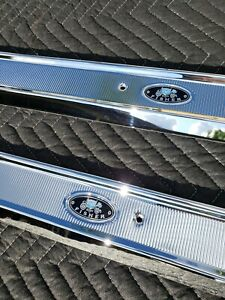 1965 1970 Chevrolet Impala Door Sill Plates Triple Chrome Plated