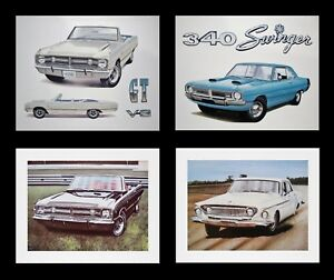 Dart Dealer Dodge Art Prints 1962 1967 1968 1969 1970 1971 1972 1973 273 361 360