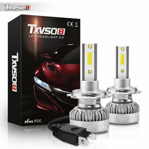 2xled Headlight Bulbs 55w H7 8000lm 6000k High Low Beam Assembly Super Bright