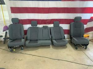 14 18 Ram 1500 2500 3500 Cloth Power Heated Seat Set grey Oem With Bags