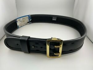 Bianchi 7960 2 25 Sam Browne Duty Belt Plain Black W Brass Buckle 38 40