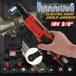 18v Cordless 3 8 Electric Ratchet Impact Wrench Tools W Battery