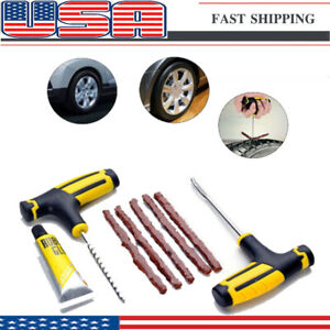 Us Tire Repair Kit Diy Flat For Car Truck Motorcycle Home Tyre Plug Patch Fast