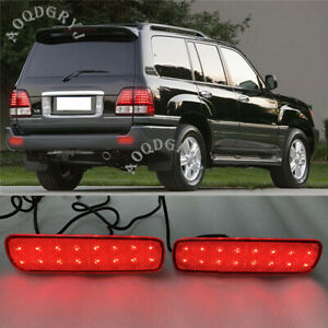 2x Led Rear Bumper Fog Lamp Light For Toyota Land Cruiser 4500 4700 lc100 98 07