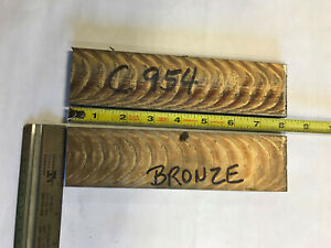 2pc Lot 954 Bronze Oversize Flat Bar 1 4 X 2 X 8 Ampco 18 Equiv