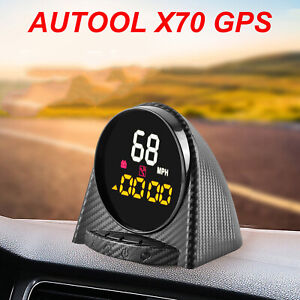 Universal Car Digital Gps Speedometer Hud Head Up Display Speed Alarm Mph Kmh Us
