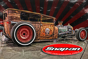 Snap On 2 Pack Rat Rod Hot Rod Racing Rat Fink Motorcycle Snap On Tools Husky