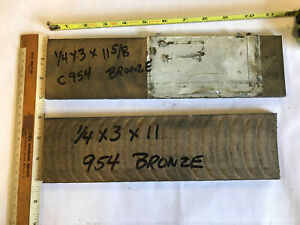2pc Lot 954 Bronze Oversize Flat Bar 1 4 Thick X 3 Wide X 11 6 And 11
