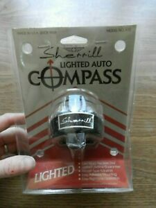 Nos Vintage Sherrill Lighted Auto Marine Compass X70 Free Shipping