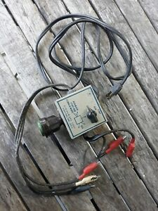 Vtg Robinair Run start Jumper Motor Switch And Cables Tester W Fuse Holder Hvac